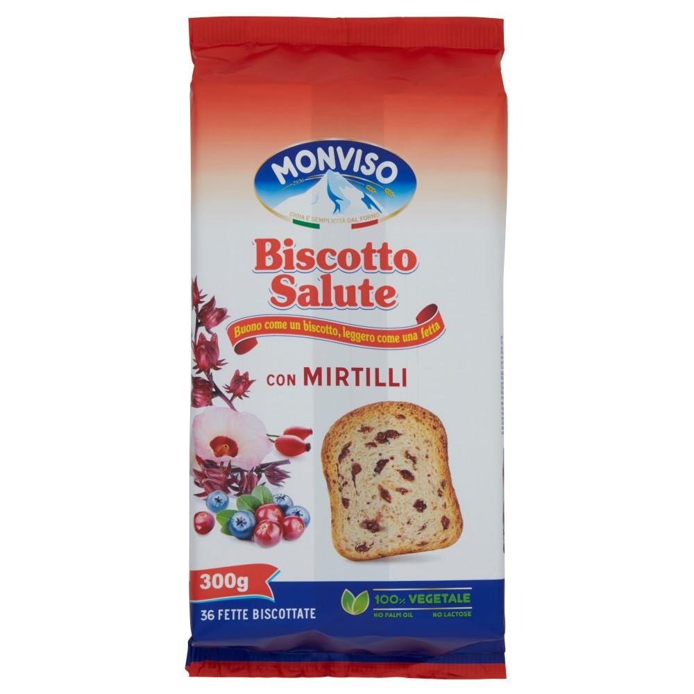 Monviso Biscotto Salute con Mirtilli 36 Fette Biscottate