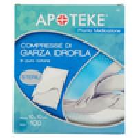 Apoteke Pronta Medicazione Compresse di Garza Idrofila Misura 10 x 10 cm