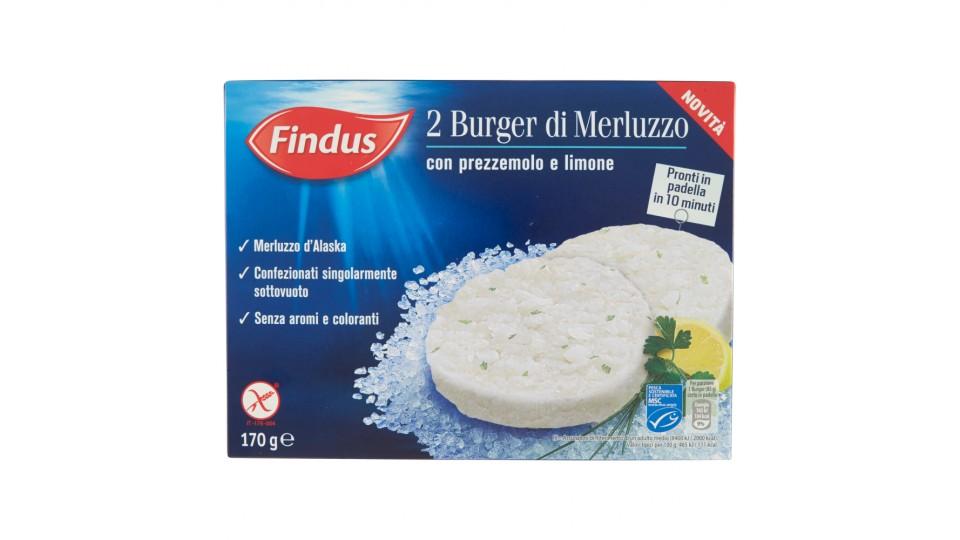 Findus 2 Burger di Merluzzo con prezzemolo e limone