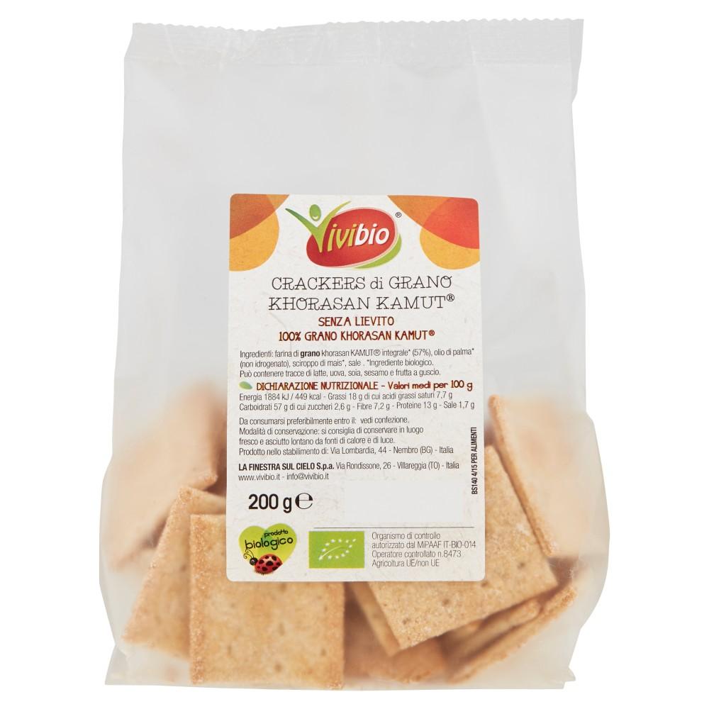 Vivibio Crackers di Grano Khorasan Kamut