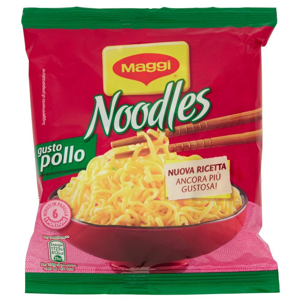MAGGI NOODLES GUSTO POLLO Noodles istantanei e condimento al gusto Pollo