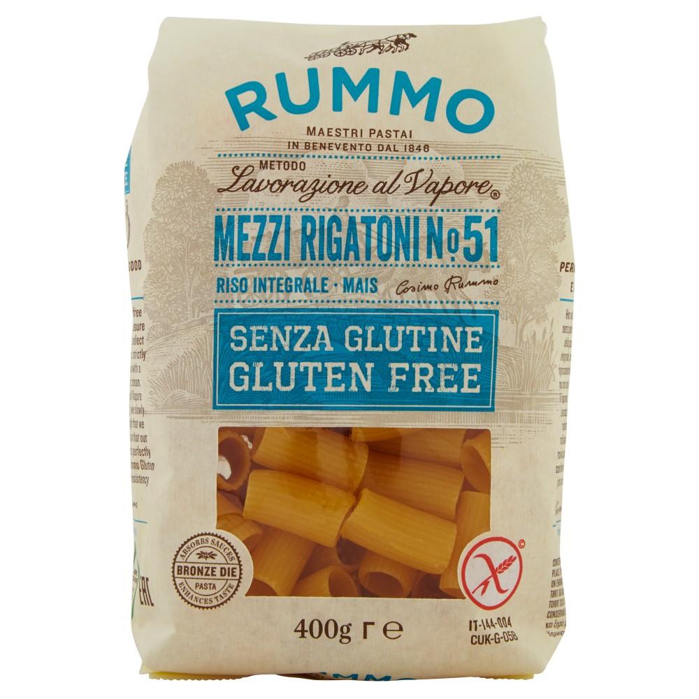 Rummo Senza Glutine Mezzi Rigatoni N° 51