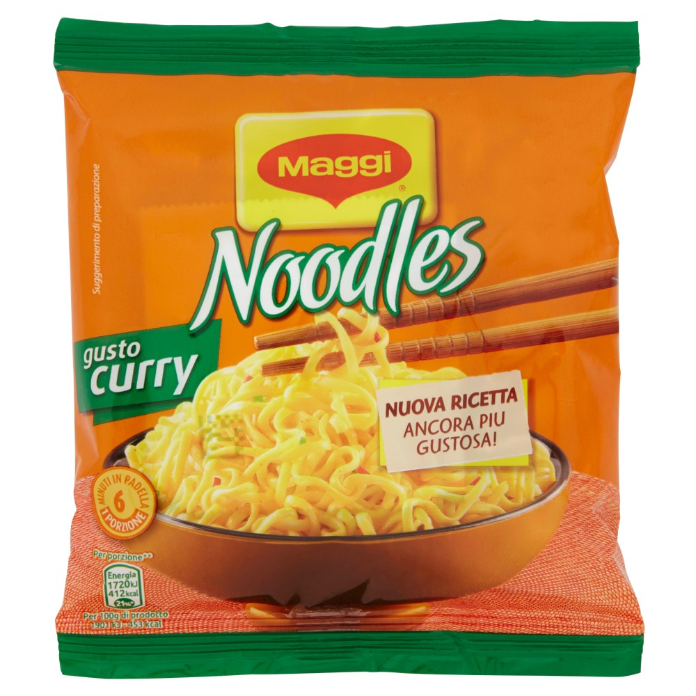 MAGGI NOODLES GUSTO CURRY Noodles istantanei e condimento al gusto Curry