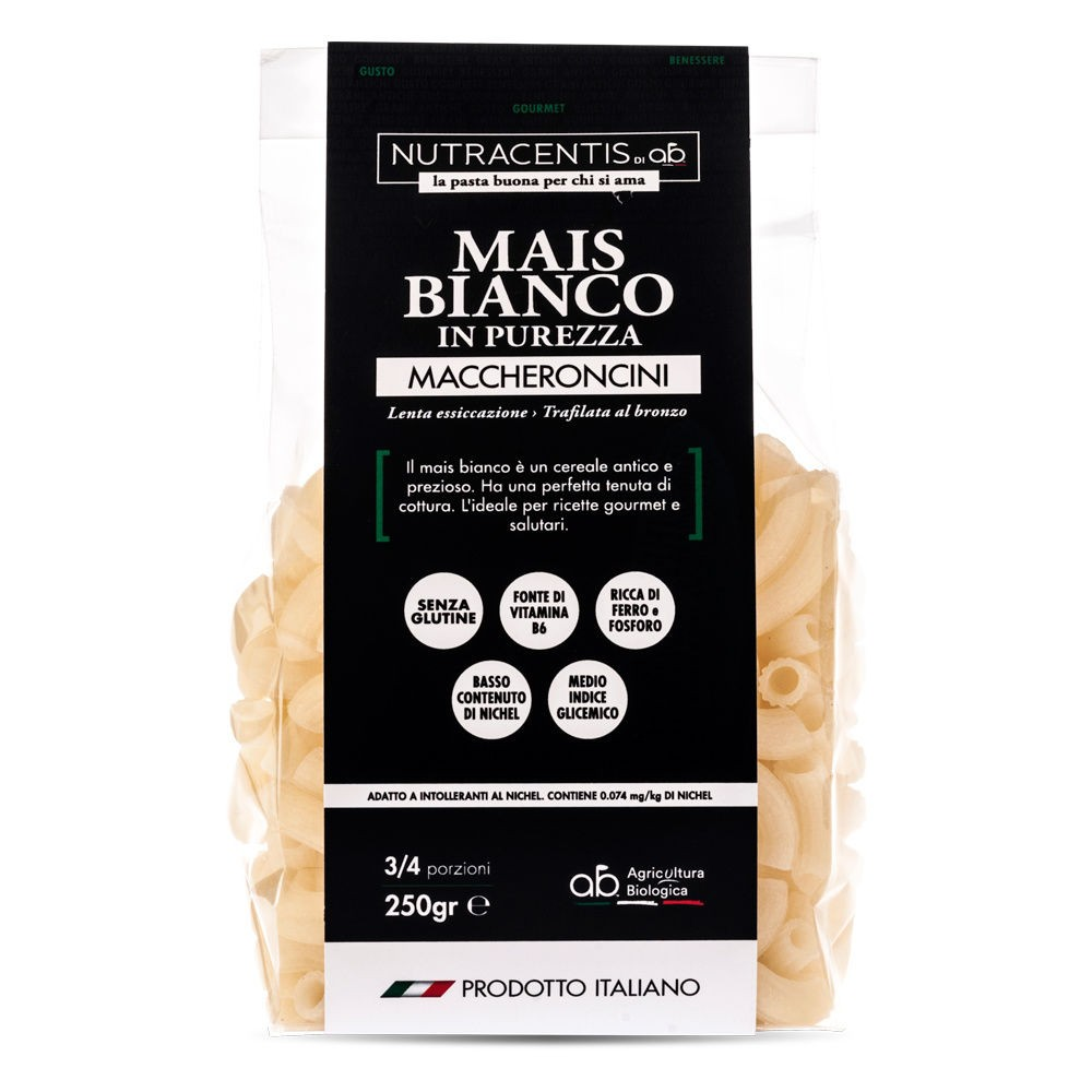 Maccheroncini di Mais bianco in purezza (bio, gluten free)