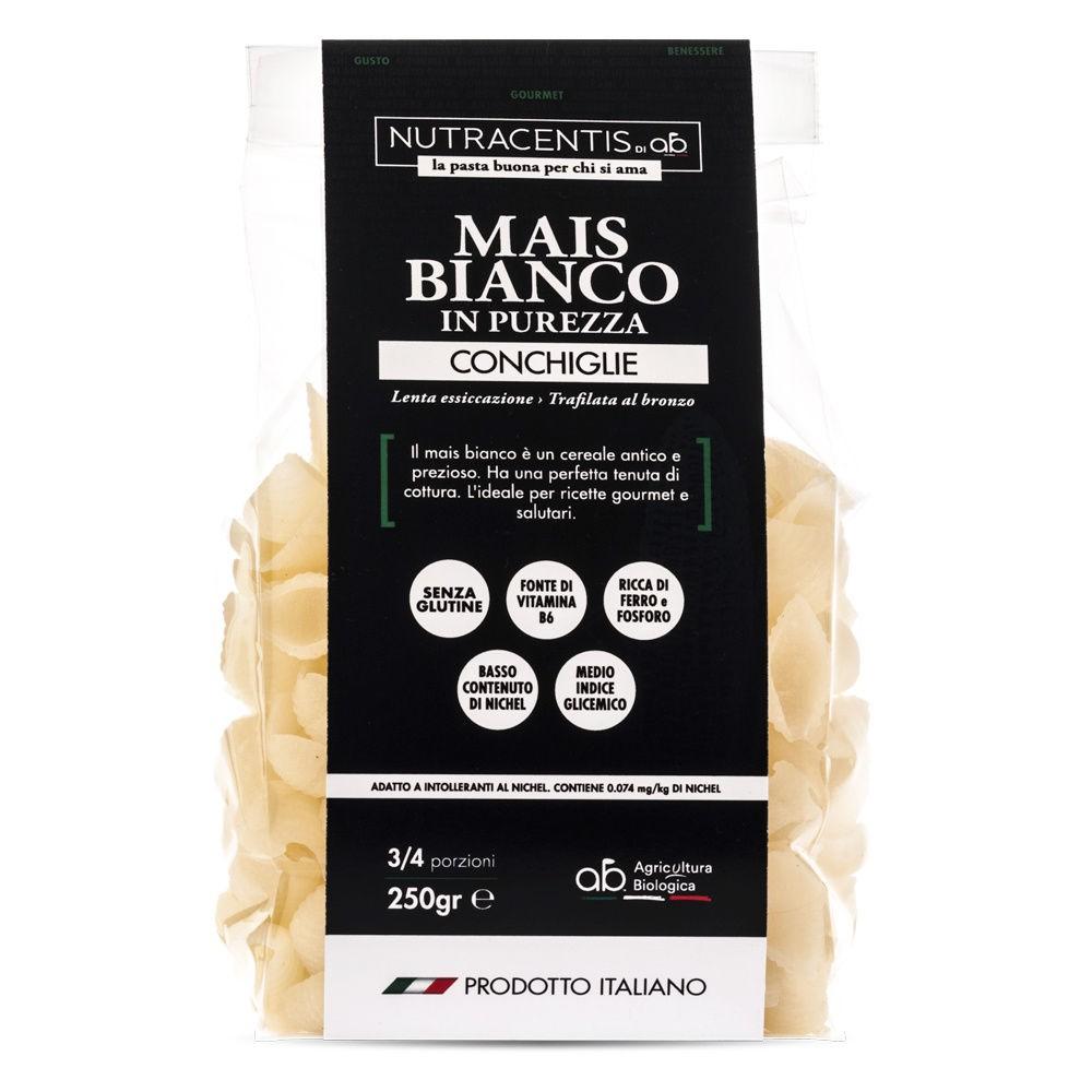 Conchiglie di Mais bianco in purezza (bio, gluten free)