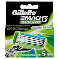 Gillette Mach3 Sensitive Lama di Ricambio per Rasoio da Uomo
