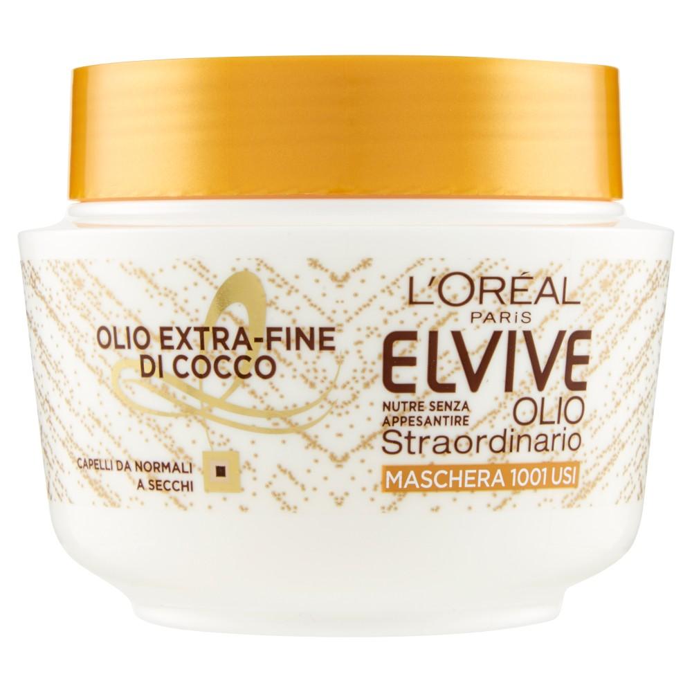L'Or�al Paris Elvive Olio Fine di Cocco, Crema nutriente per capelli da normali a secchi