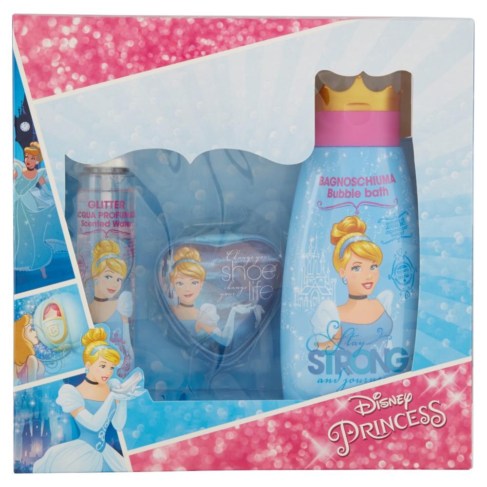 Gift Set Disney Princess Bagnoschiuma 300ml +Acqua Profumata Glitter