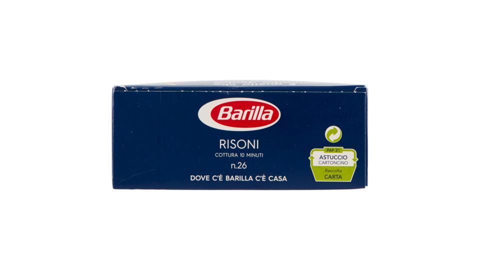 Barilla - Risoni, Pasta di Semola di Grano Duro, n.26