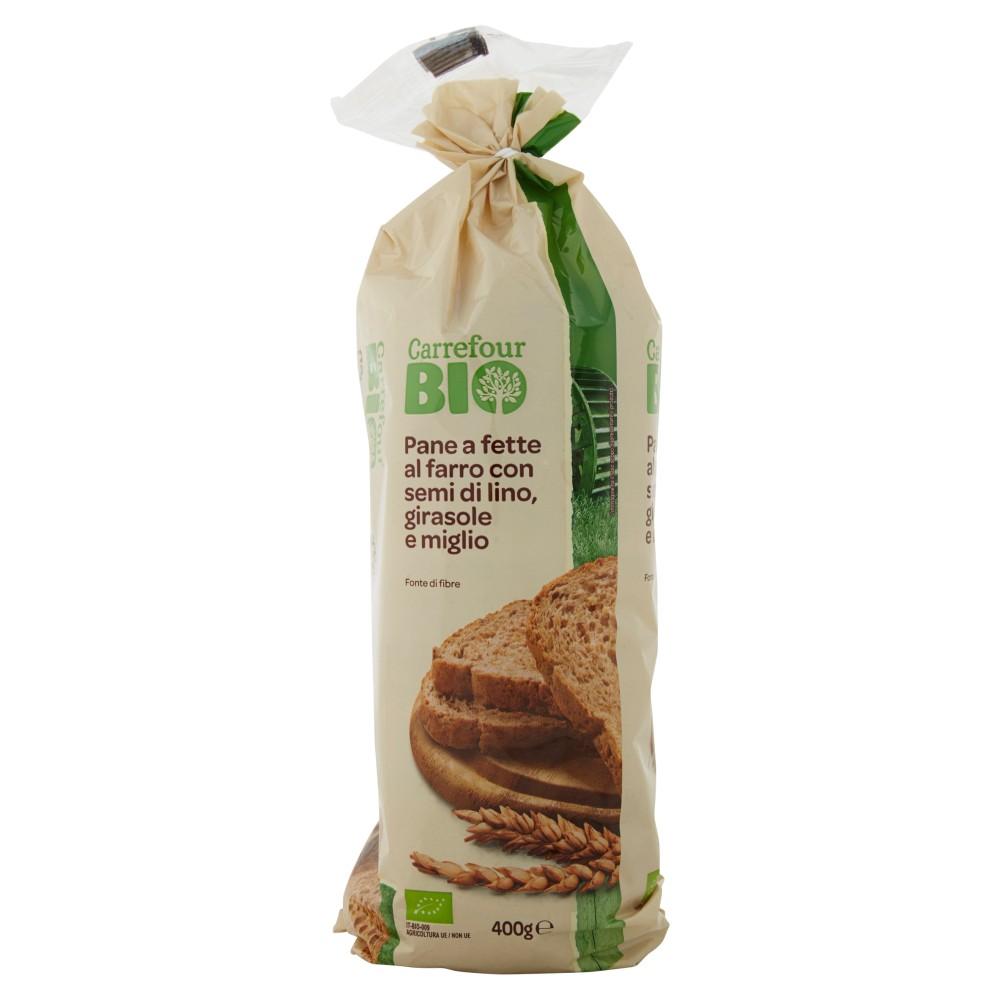 Carrefour Bio Pane a fette al farro con semi di lino, girasole e miglio