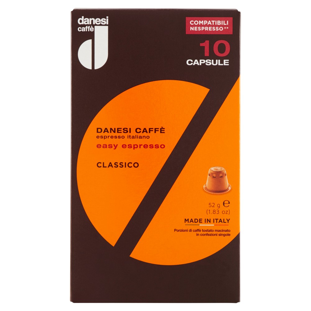 danesi caff� easy espresso Classico10 Capsule Compatibili Nespresso*