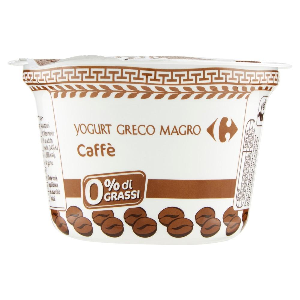 Carrefour Yogurt Greco Magro Caffè