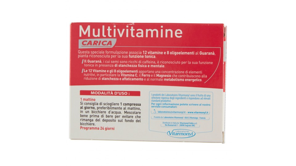 Laboratoires Vitarmonyl Multivitamine Carica 24 Compresse ...