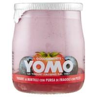 Yomo Yogurt ai Mirtilli con Purea di Fragole con Pezzi