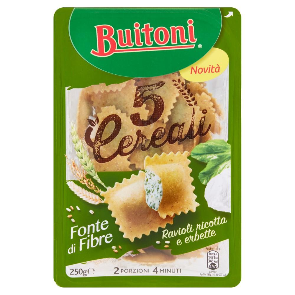 BUITONI 5 CEREALI RAVIOLI RICOTTA E ERBETTE Pasta fresca all'uovo