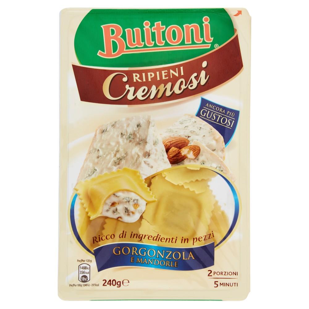 BUITONI RIPIENI CREMOSI RAVIOLI GORGONZOLA E MANDORLE Pasta fresca all'uovo