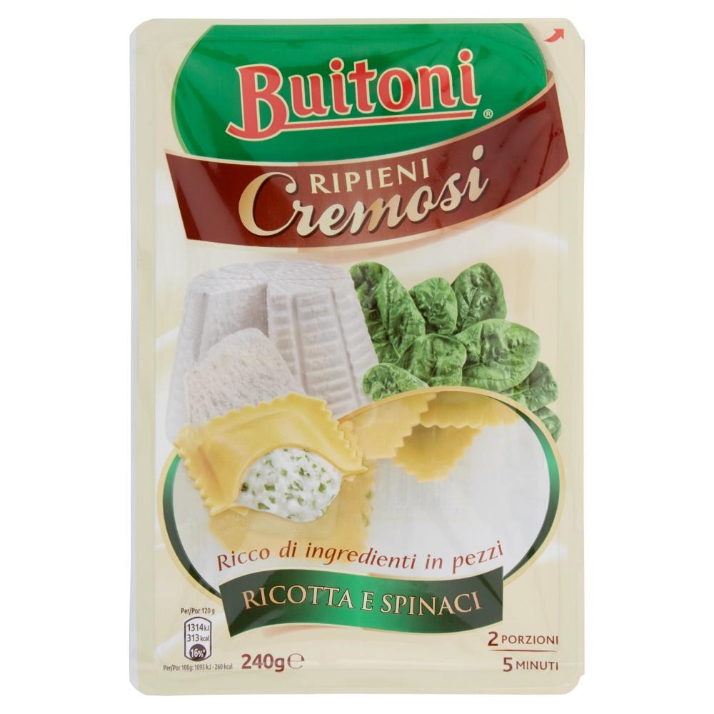 BUITONI RIPIENI CREMOSI RAVIOLI RICOTTA E SPINACI Pasta fresca all'uovo