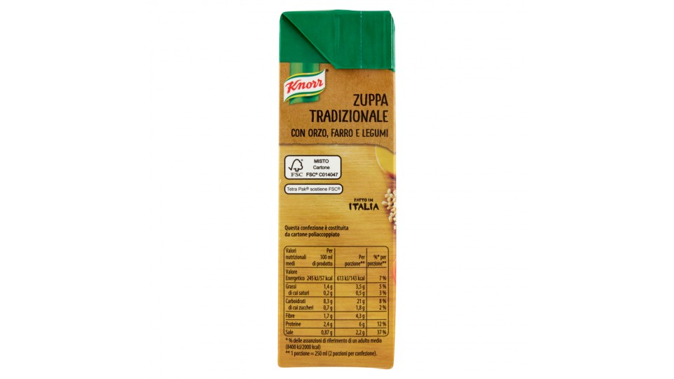 Knorr - Zuppa Tradizionale, Con Orzo, Farro E Legumi, 2 Porzioni