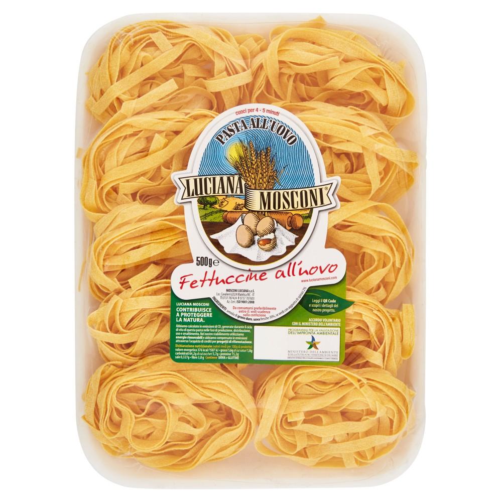 Luciana Mosconi, Fettuccine pasta all'uovo