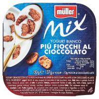 Muller - Mix, Yogurt Bianco Più Fiocchi al cioccolato
