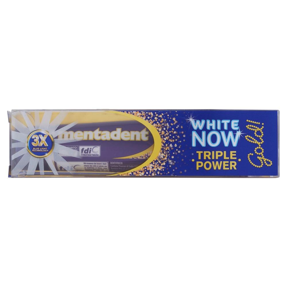Mentadent, White Now Triple Power Gold dentifricio