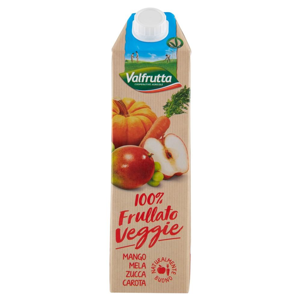 Valfrutta, 100% Frullato Veggie mango mela zucca carota