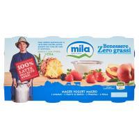 Mila Benessere Zero grassi Yogurt Magro 2 Ananas - 2 Frutti di Bosco - 2 Fragola - 2 Pesca