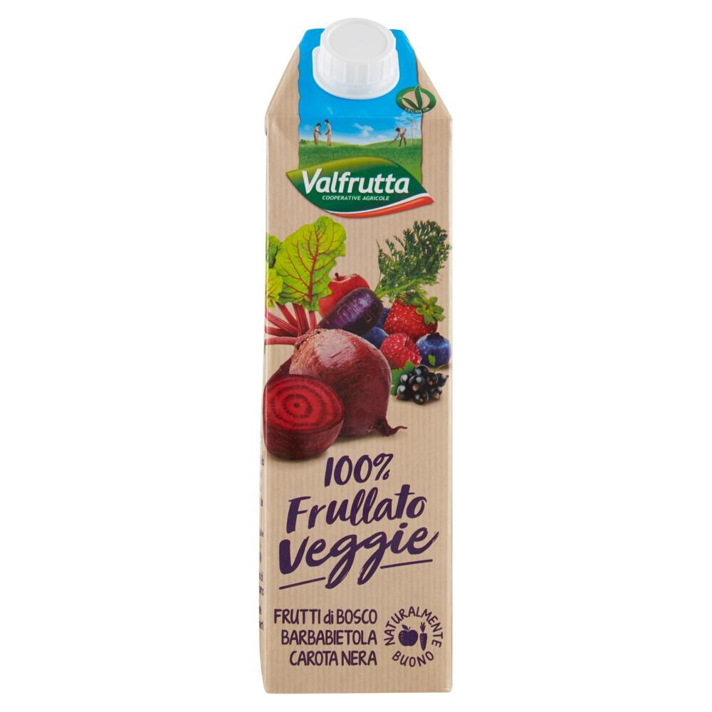 Valfrutta, 100% Frullato Veggie frutti di bosco barbabietola carota nera