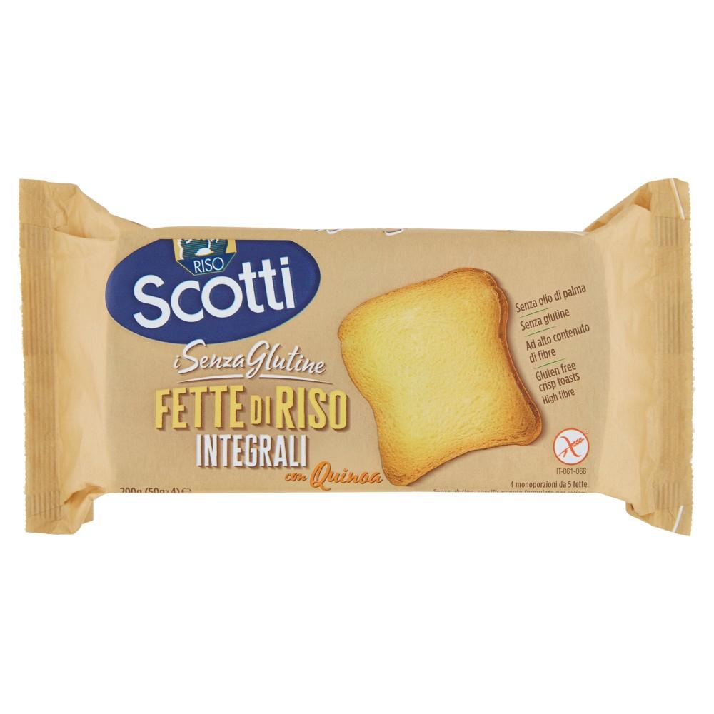 Riso Scotti i Senza Glutine Fette di Riso Senza Glutine integrali con Quinoa