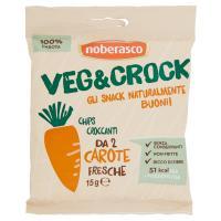 noberasco Veg&Crock Chips Croccanti da 2 Carote Fresche
