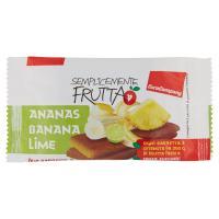 EuroCompany Semplicemente Frutta Ananas Banana Lime due barrette a base di frutta essiccata