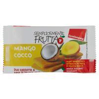 EuroCompany Semplicemente Frutta Mango Cocco due barrette a base di frutta essiccata
