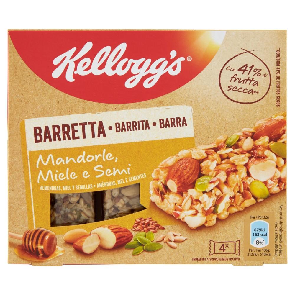Kellogg's Barretta Mandorle, Miele e Semi