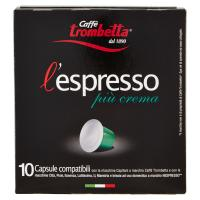 Caffè trombetta l'espresso più crema 10 Capsule