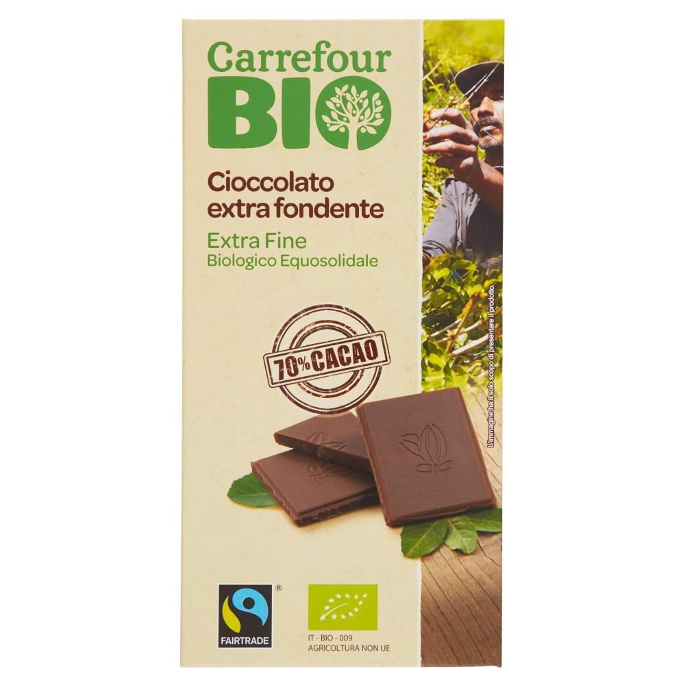 Carrefour Bio Cioccolato extra fondente