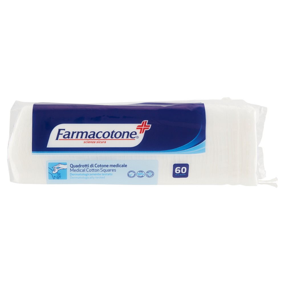 Farmacotone Quadrotti di Cotone medicale 75x75mm