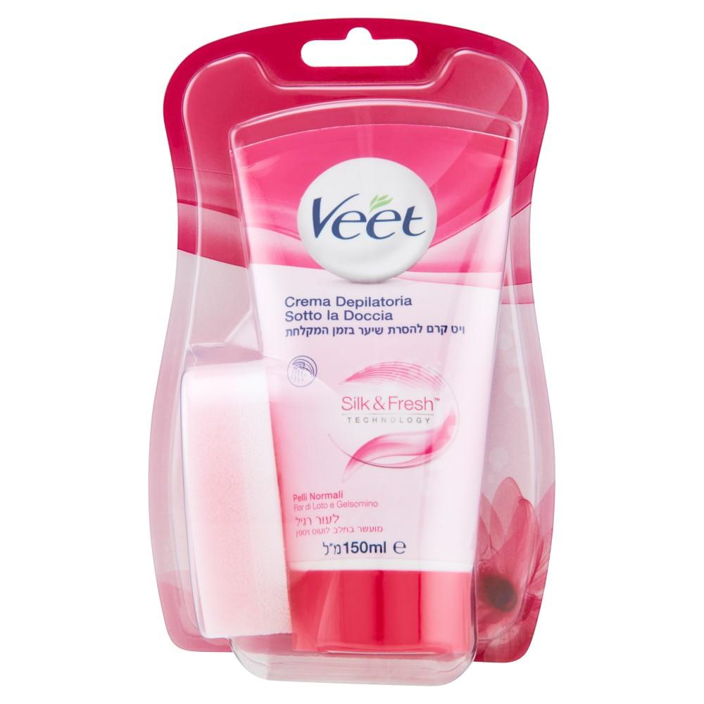 Veet Crema Depilatoria Sotto la Doccia Silk & Fresh Technology Pelli Normali