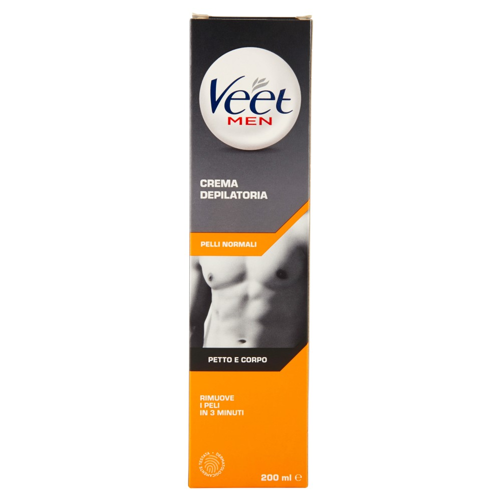 Veet For Men Gel Depilatorio per il Corpo Pelli Normali