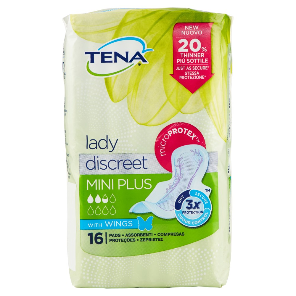 Tena lady discreet Mini Plus with Wings
