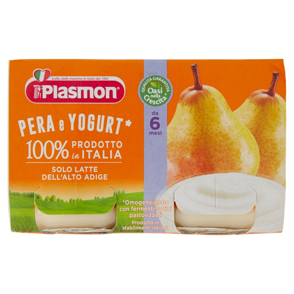 Plasmon Merenda Pera e Yogurt omogeneizzato