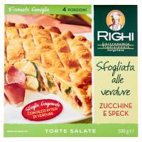 Righi Torte Salate Sfogliata alle verdure Zucchine e Speck
