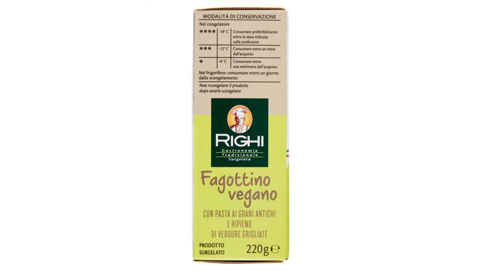 Righi Fagottino vegano con Pasta ai Grani Antichi e Ripieno di Verdure Grigliate 2 Pezzi