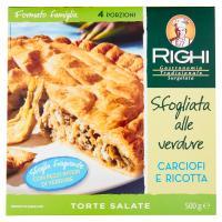 Righi Torte Salate Sfogliata alle verdure Carciofi e Ricotta