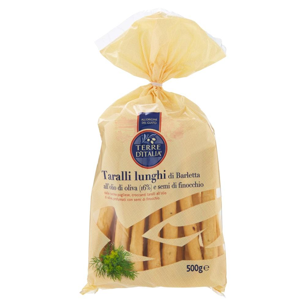 Terre d'Italia Taralli lunghi di Barletta all'olio di oliva (16%) e semi di finocchio