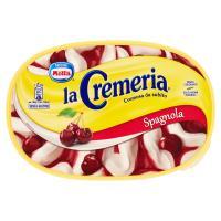 MOTTA LA CREMERIA Spagnola gelato panna variegato amarena e ciliegie candite vaschetta