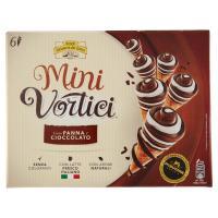 MINI VORTICI cono gelato panna e cioccolato con vortici di cioccolato