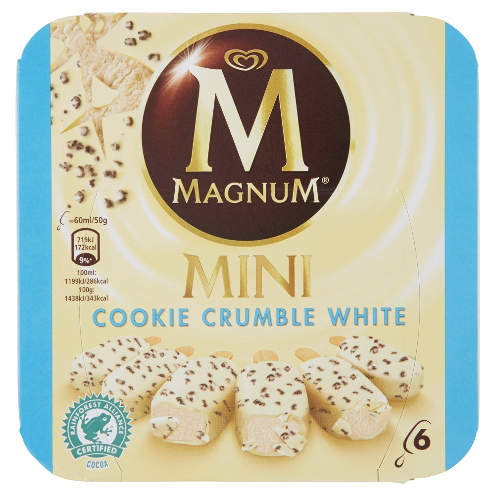 Magnum Mini Cookie Crumble White