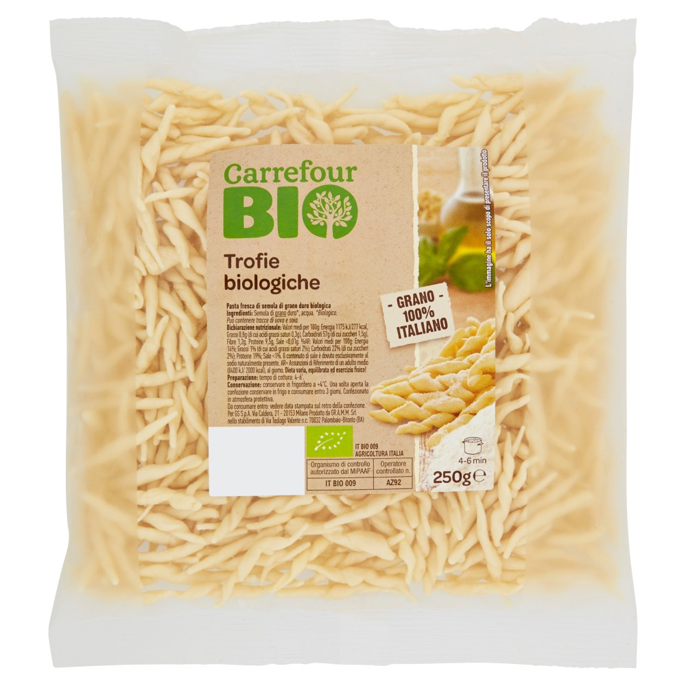 Carrefour Bio Trofie biologiche
