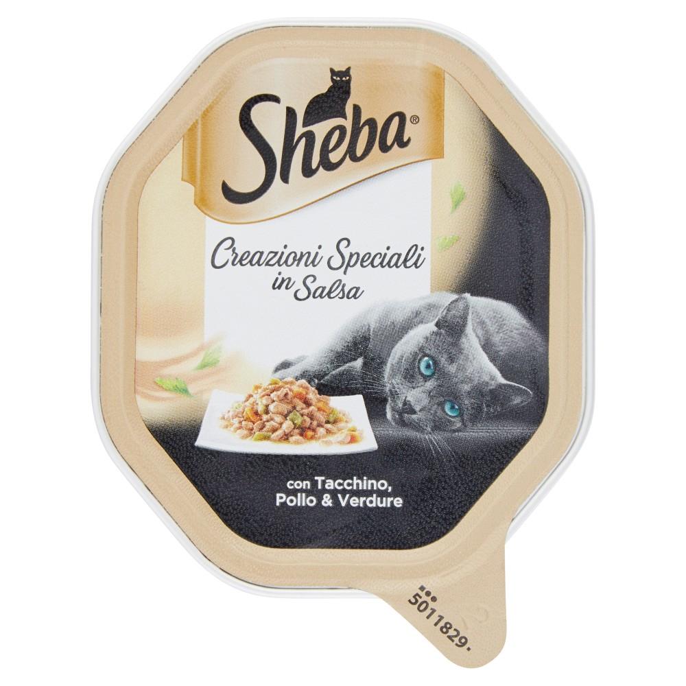 Sheba Creazioni Speciali in Salsa con Tacchino, Pollo & Verdure