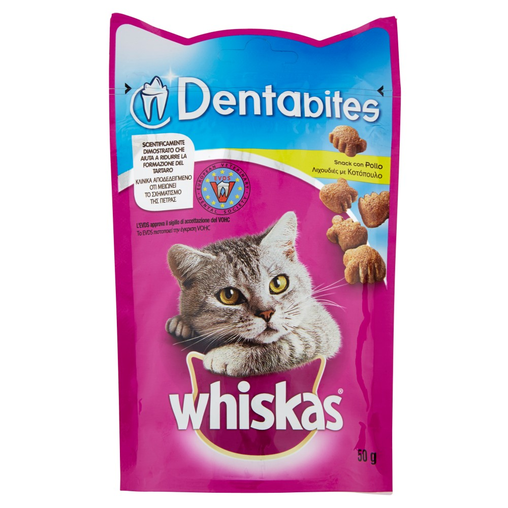 whiskas Dentabites Snack con Pollo